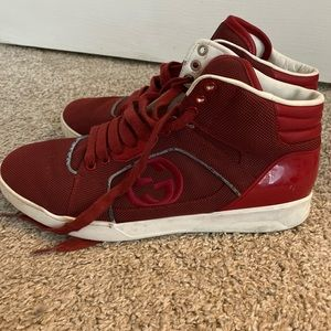 Red Gucci sneakers